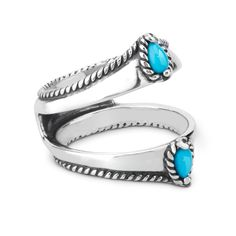 Possibilities Sterling Silver Sleeping Beauty Turquoise Ring Guard