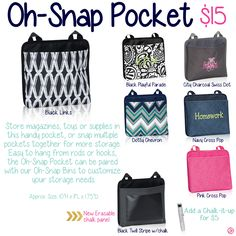 Oh-Snap Pocket by Thirty-One. Fall/Winter 2015.