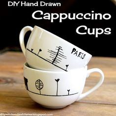 more step-by-step for drawing on mugs