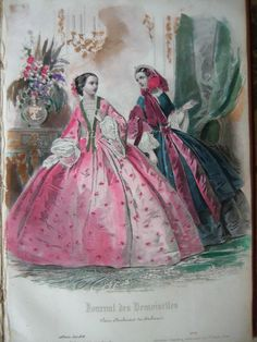 ORIGINAL BOUND FRENCH FASHION MAGAZINE 1858- CIVIL WAR ERA! | eBay