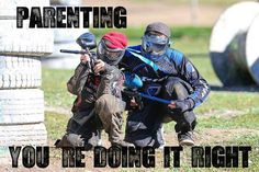 Paintball. This is so us. Brindley/Margan family