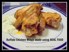 Buffalo Chicken Wings GAPS Friendly