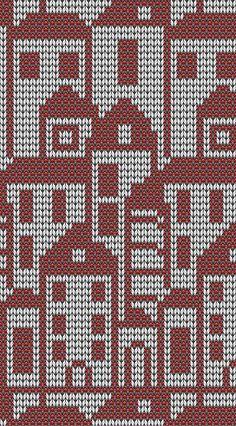 Подбор цветовой гаммы для вязания жаккардового узора Knitting Room, Fair Isle Knitting, Knitting Charts, Knitting Stitches, Knitting Patterns, Crochet Patterns, Crochet Cross, Crochet Chart, Filet Crochet