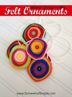 DIY Felt Ornament Tutorial by Somewhat Simple You could use old woolen jerseys for this!