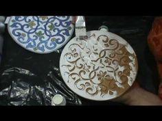 ▶ Lu Heringer - Marble Inlay, Pietra Dura ou Parchin Kari - Imitação - Usando o Turbo Carver - YouTube