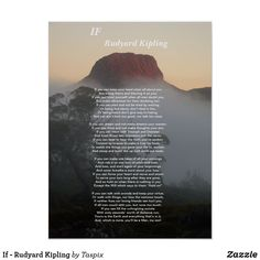 If - Rudyard Kipling Poster | Zazzle.ca