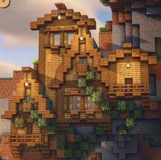 Minecraft Cottage, Cute Minecraft Houses, Minecraft Plans, Minecraft Survival, Amazing Minecraft, Minecraft Blueprints, Minecraft Crafts, Minecraft Jungle House, Minecraft Stuff