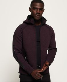 Shop Superdry Mens Core Gym Tech Zip Hoodie in Fig Marl. Buy now with free delivery from the Official Superdry Store. Latest Mens Fashion, Fashion Online, Core Gym, Gym Outfit Men, Superdry Mens, Der Arm, Gym Wear, Zip Hoodie, Style Guides