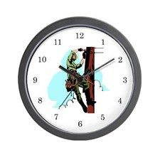 Electrician / Lineman Wall Clock for