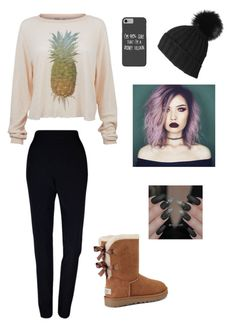 """""""Trendy"""" by whalebuddies ❤ liked on Polyvore featuring Wildfox, Plakinger, UGG, Disney and Black"""