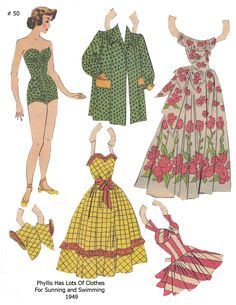 PHYLLIS ~~~ Lucy Eleanor Leary, Boston Sunday Post, Newspaper Paper Dolls 1949