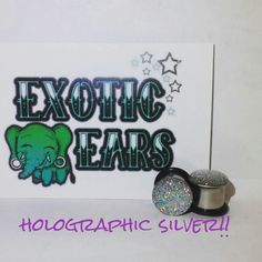 Popular Holographic silver plugs silver gauges by ExoticEars