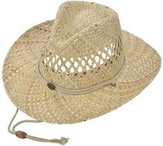 c499154446b Summer Cool Straw Western Cowboy Sun Hats for Men  amp  Women Shapeable  Brim