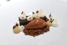 Gordon Ramsay's Chocolate marquise Gordon Ramsay's Chocolate marquise Gordon Ramsay, Fancy Desserts, Just Desserts, Frozen Desserts, Gourmet Recipes, Dessert Recipes, Gourmet Desserts, Gourmet Foods, Healthy Foods