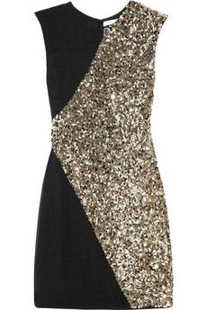 Rachel Gilbert  Dexina sequin-embellished silk-chiffon mini dress