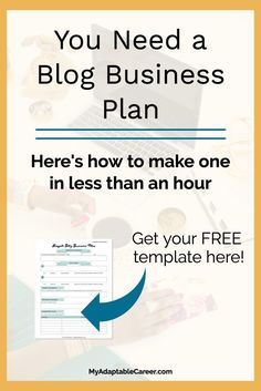 If you want to turn your blog into a business (aka...make money blogging), then you need a business plan. Click here to find out why a business plan is essential, plus download a free template so you can write your business plan ASAP. #blogging