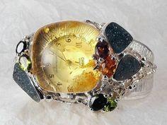 Joyería #Barcelona, Gregorio Pyra Piro #Joyas de Autor #Plata de Ley y Oro con #Piedras Preciosas #Reloj #Pulsera 8394