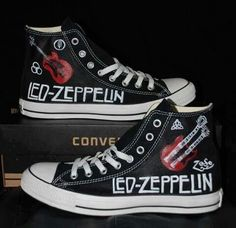 2c68fd1e726ec7 Love these Led Zeppelin Chuck Taylor s! My daughter Loves her some Chuck  Taylors