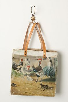 Still Life Bag, Roosters #anthropologie