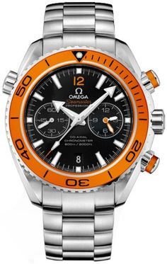 515441b1742 OMEGA Watches  Seamaster Planet Ocean 600 M Omega Co-Axial Chronograph mm -  Steel on rubber strap -. ReletronS.com · Relógios Masculinos