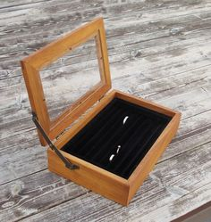 reclaimed wood Ring box Jewelry box Ring by rustichandcrafts