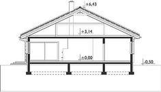 Przekrój pionowy projektu Blanka - murowana – beton komórkowy Gazebo, Outdoor Structures, Home, Kiosk, Ad Home, Homes, Pavilion, House