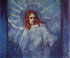 1889-angel.jpg (1000×826) Van Gogh