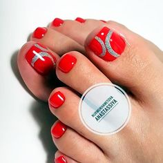 21 Amazing Toe Nail Colors to Choose This Season ❤ Gorgeous Classic Pedicures in Red picture 2 ❤ Your toe nail colors should always keep up with the season. There is no way we will allow you to stay behind and out of the trend! Purple Pedicure, Pedicure Colors, Pedicure Designs, Pedicure Nail Art, Toe Nail Designs, Toe Nail Art, Nail Colors, Pedicure Ideas, Black Toe Nails