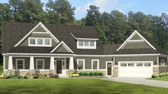 ePlans Craftsman House Plan – Roomy Craftsman With Angled Garage – 2660 Square Feet and 4 Bedrooms from ePlans – House Plan Code HWEPL77004