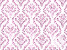 swag paper :: distressed damask. Pink + white damask patterned removable wallpaper