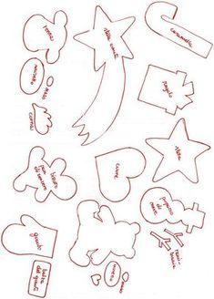 Cartamodelli da stampare per calendario dell'Avvento in feltro e tutorial con spiegazioni in italiano.