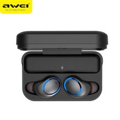 [True Wireless] AWEI Dual Bluetooth Earphone Stereo Waterproof Headphone with Charging Box Best Earbuds, Wireless Headphones, Bluetooth, Waterproof Headphones, Ear Cap, Circuit Design, Headphone With Mic, Gaming Headset, Noise Cancelling