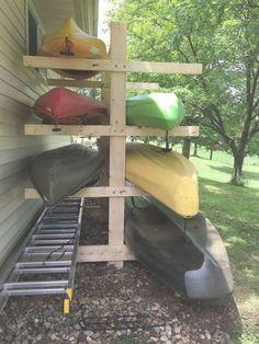 Hobby Lobby Decor - Wooden Hobby Horse - Unique Hobby List - Hobby Fai Da Te Italiano - Hobby To Try Free - Canoe Storage, Diy Storage, Outdoor Storage, Storage Ideas, Kayaks, Kayak Camping, Camping Hacks, Kayak Rack, Kayak Holder