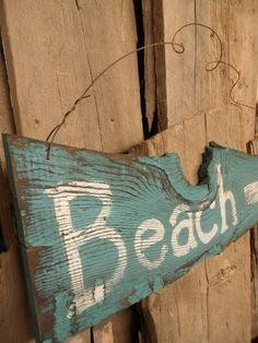 Beach sign  Beach painted onto a piece of by LynxCreekDesigns, $34.99