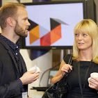 Siim and Clare at the Mobile Research in the Mobile World event