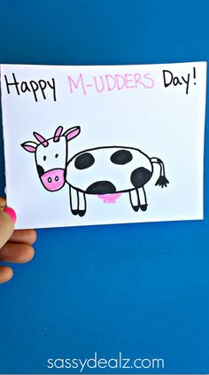 Cow Mother's Day Card Idea for Kids to Make #Mothersday gift idea