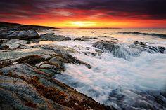 Sunrise at Beavertail by Jeff Bazinet