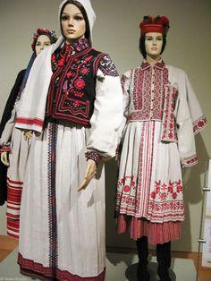 Traditional Ukrainianembroideredwedding costumes at the Ukrainian Museum, New York.