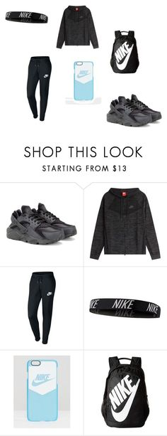 more photos 2d340 b8e86 Nike outfit by yagirl-abbii ❤ liked on Polyvore featuring NIKE, nike and  hurraches