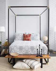 Arabesque (Navy) bedding by Hygge & West x Wit & Delight