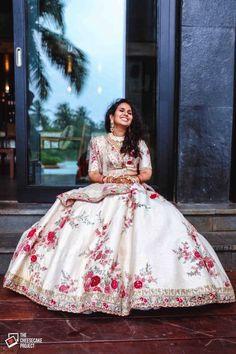 Indian designer white lehenga choli for wedding outfits For order whatsapp us on wedding outfits wedding dress wedding dresses lengha lehnga sabyasachi manish malhotra Floral Lehenga, Bridal Lehenga Choli, Indian Lehenga, Lehenga Designs, Churidar Designs, Indian Bridal Outfits, Indian Dresses, Desi Wedding Dresses, Wedding Outfits