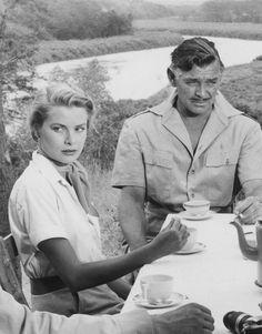 Grace Kelly and Clark Gable
