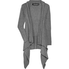 Zadig & Voltaire Cambi cashmere draped-front cardigan (€470) ❤ liked on Polyvore featuring tops, cardigans, outerwear, jackets, sweaters, oversized grey cardigan, grey cashmere cardigan, gray cardigan, long sleeve tops and grey cardigan