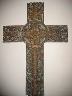 With all of the shabby chic looks that are in today, it is a must to know how to rust! Modern Masters has products that will help you do thi. Old Rugged Cross, Paint Finishes, Metal Finishes, Rustic Cross, Religious Symbols, Modern Masters, Wall Crosses, Distressed Painting, Cross Designs