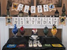 """Expecto Patronus""  8th birthday, Harry Potter: The dessert table"