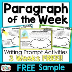 """When teaching math, we teach our students new skills, give them practice opportunities in class, and send them home with even more practice for homework. This makes me wonder….""""Why don't we do the same for writing?"""" This idea motivated me to start incorporating Weekly Paragraph Writing Homeworkinto my classroom…Paragraph of the Week. This same system...Read More »"""