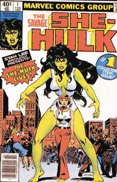 She-Hulk ( Jennifer Walters ) is a Marvel Comics superheroine . Created by writer Stan Lee and artist John Buscema , she first appeared in Savage She-Hulk (February Hulk Marvel, Marvel Comics, Hulk 1, Hulk Comic, Old Comics, Marvel Comic Books, Vintage Comics, Comic Books Art, Marvel Heroes