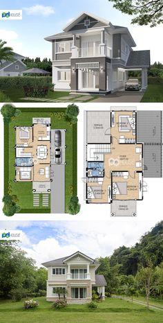 Small Modern House Plans, Best Modern House Design, Cool House Designs, House Plans Mansion, House Floor Plans, Architectural Design House Plans, Architecture Design, Row House Design, House Construction Plan