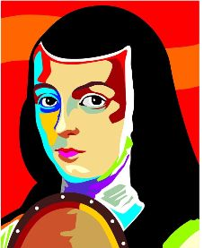 Painting of Sor Juana