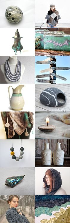 Gray mint story by Ivana Kristina on Etsy--Pinned with TreasuryPin.com